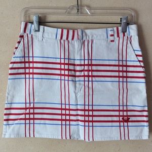 Vintage Roxy plaid mini skirt with pockets